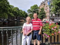 Amsterdam - canal dad and Grandma