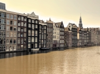 Amsterdam - canal houses amber filter