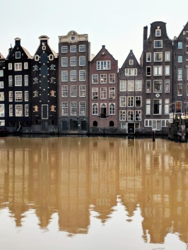Amsterdam - row houses amber filter