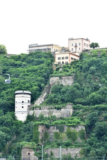 Koblenz - Cable cars and Ehrenbreitstein fortress