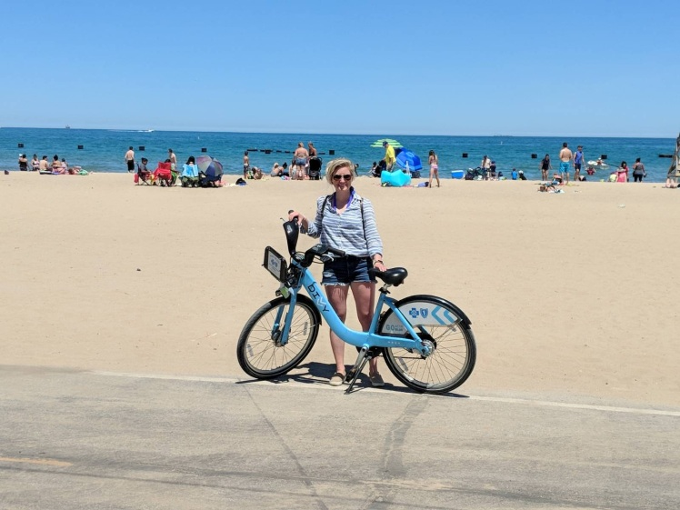 North Avenue Beach Divvy Bike Chicago