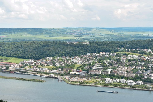 Rudesheim from the hilltop