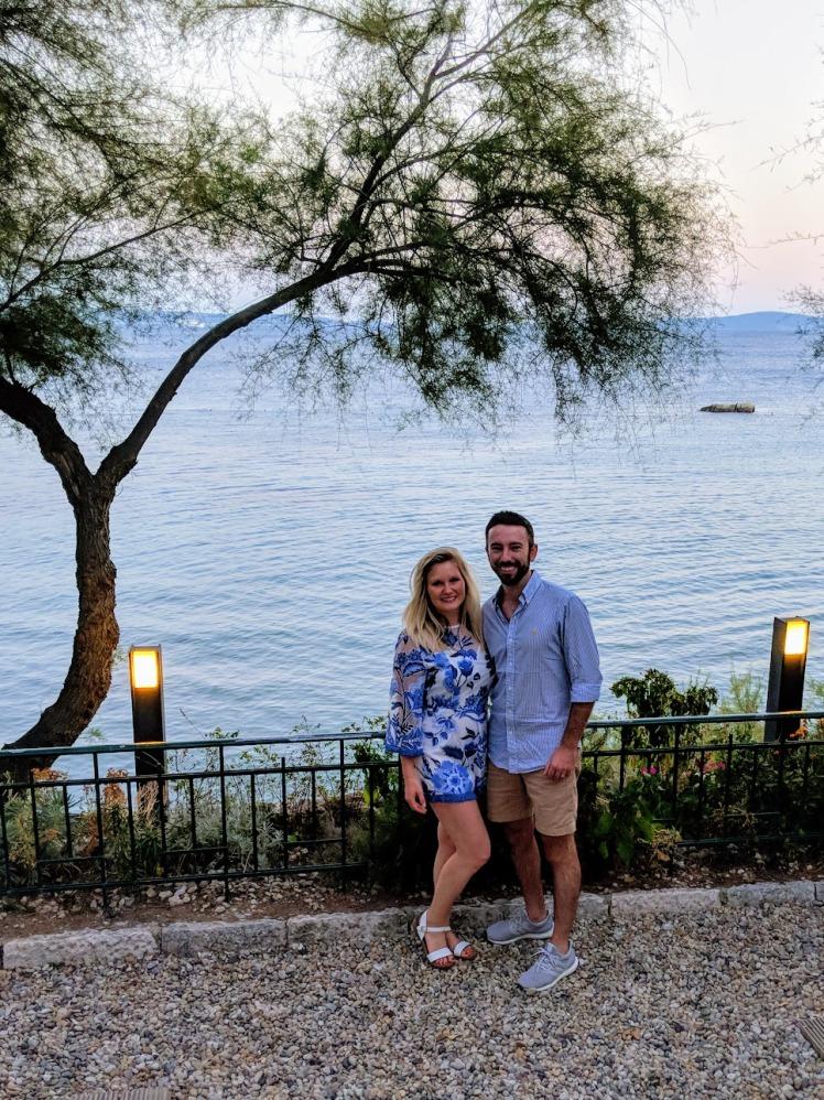 Dinner views at Dvor - Split, Croatia