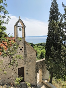 Marjan Hill hike, cliff side chapel - Split, Croatia