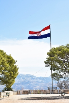 Marjan Hill hike, Croatian Flag - Split, Croatia