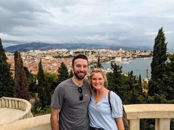 Marjan Hill outlook over the city - Split, Croatia