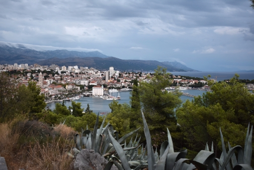 Split from Marjan Hill cloudy day - Split, Croatia