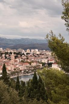 Split from Marjan Hill cloudy day - Split, Croatia