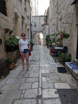 Alleyway of the old town Dubrovnik Croatia