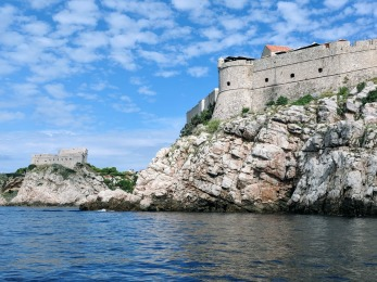 Dubrovnik City walls from water side