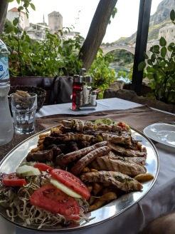 Bosnian food - Urban Grill Mixed Meat Plate in Mostar