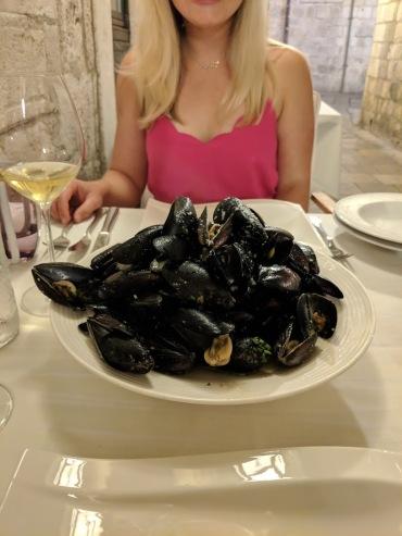 Mussels at Fish Restaurant Proto Dubrovnik Croatia
