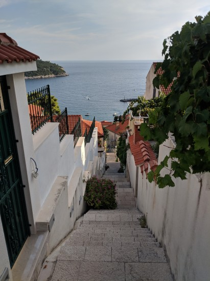 So many Stairs to old town Dubrovnik Croatia