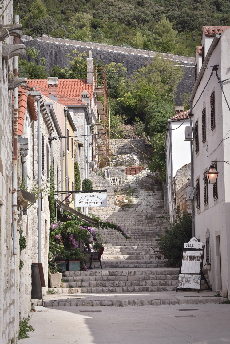 Ston Croatia city wall and alley