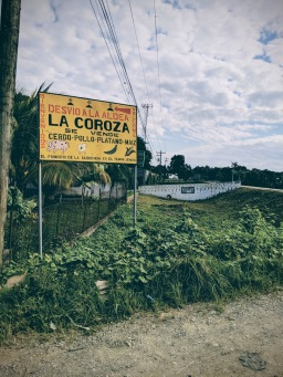 Welcome to La Coroza where we sell pigs, chicken, plantains and corn