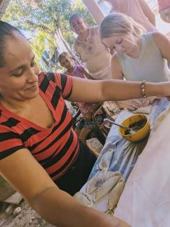 In Remolino making pineapple pastelitos