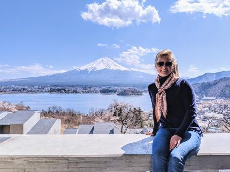 Amanda at Hoshinoya Fuji view