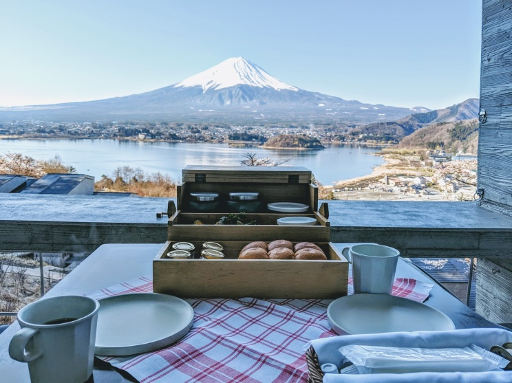 Breakfast at Hoshinoya Fuji Japan
