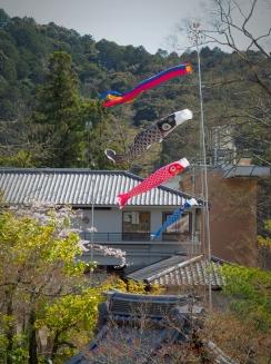 Nanzen-ji Temple fish flags Kyoto Japan