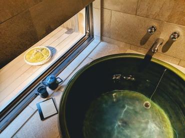 Kyoto Airbnb bath tub setup