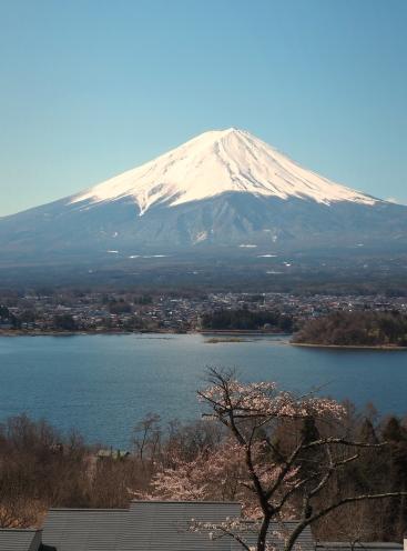 Mt Fuji 1 PM from Hoshinoya Fuji