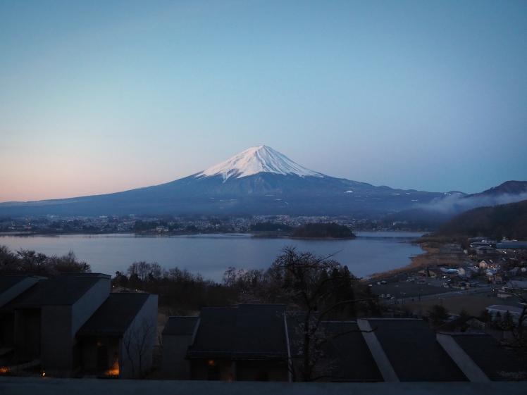 Mt Fuji 6am from Hoshinoya Fuji