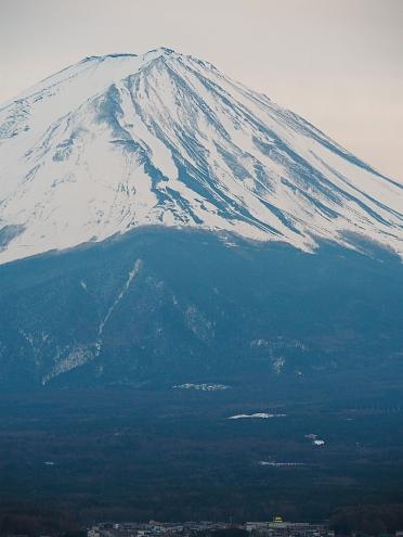 Mt Fuji peak from Hoshinoya Fuji