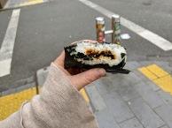 Onigiri breakfast - seaweed and rice