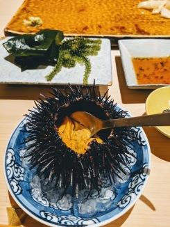Uni at Sushi Sho Saito