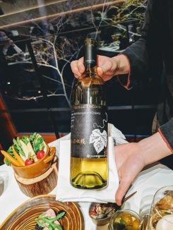 Dinner wine pairing Hoshinoya Fuji Japan